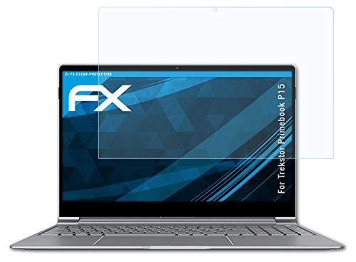 atFolix Schutzfolie kompatibel mit Trekstor Primebook P15 Folie, ultraklare FX Bildschirmschutzfolie (2X)