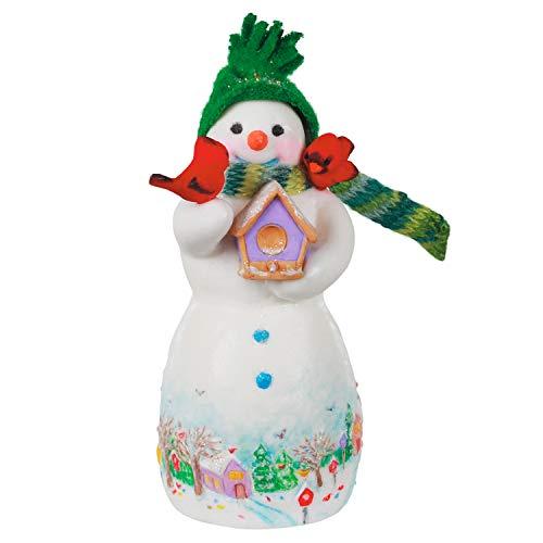 Price comparison product image Hallmark Keepsake Christmas Ornament 2020,  Snowtop Lodge Birdie P. Nestinghouse Snowman with Cardinals