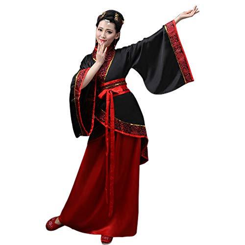 BOZEVON Damen Kleidung Tang Anzug - Altertümlich Chinesischen Stil Traditionellen Kostüm Hanfu Kleider - für Bühnenshow Performances Cosplay, Stil-1/XL