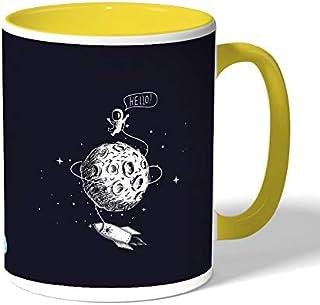 astronaut Coffee Mug by Decalac, Yellow - 19070