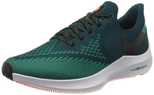 Nike Men's Zoom Winflo 6 Midnight Turq/Black-Neptune Green Running Shoes-6 UK (40 EU) (7 US) (AQ7497-300)