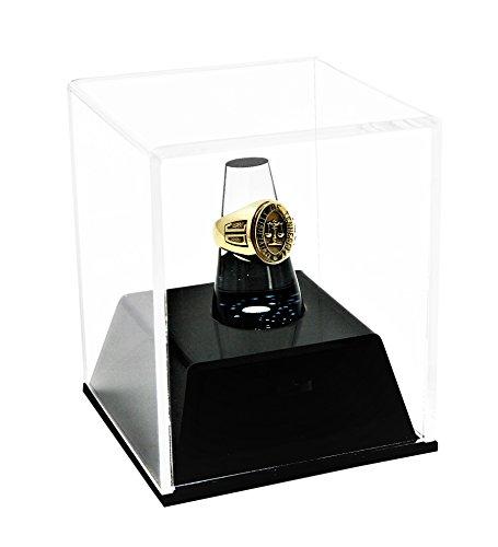 Better Display Cases Plexiglas-Meisterschaft Schule Ring Vitrine mit Schublade und Plexiglas-Ring-Halter (A064)