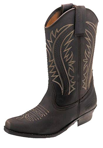 Colorado klassieke Western laarzen Cowboylaarzen leer bruin 36-46