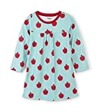 Hatley Girls' Little Long Sleeve Nightgowns, Apples and Dots, 6 Years