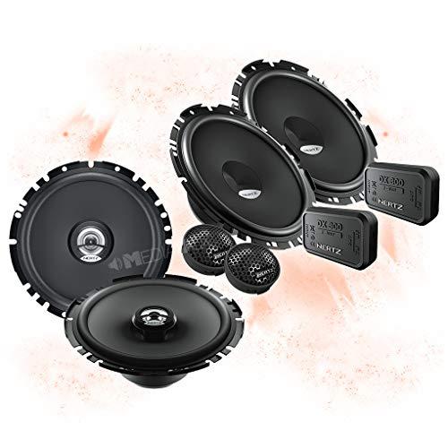 Hertz Front/Heck 16,5cm/165mm Auto Lautsprecher/Boxen/Speaker Komplett-Set kompatibel für VW T5/T6/T6.1/Arteon/Caddy Kombi/Alltrack/Bulli