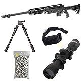 Pacchetto Completo con Accessori - Fucile per Softair, Swiss Arms Modello S.A.S 12 Sniper,...