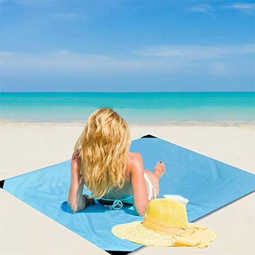 Anyeat Alfombra de Picnic Bordes Reforzados, Manta Picnic Anti-Arena Impermeable Ligero y PortáTil Alfombra de Playa Esterilla Playa Adecuado para Varias Vacaciones como Picnic, Camping, Playa