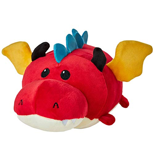Kicko Dragon Travel Pillow - 1 Piece - 10 Inch, Stuffed Animal Toy - for Hugging, Kids, Party Favors, Birthday Gifts, Presents, Stress Relief, Back and Support, Comfort, and More