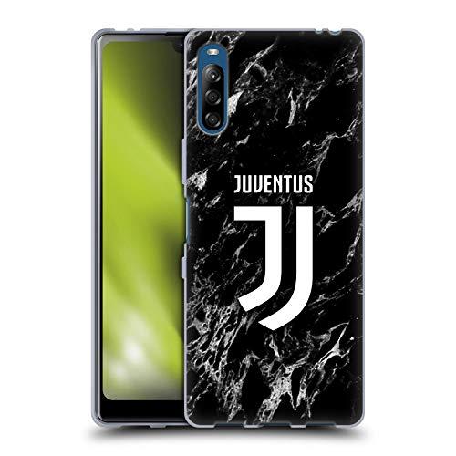 Head Hülle Designs Offizielle Juventus Football Club Schwarz Marmor Soft Gel Handyhülle Hülle Huelle kompatibel mit Sony Xperia L4