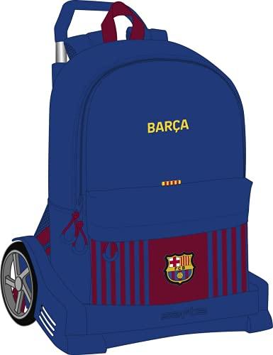 Safta Mochila Escolar con Carro Evolution Incluido de F.C. Barcelona 1ª Equipación 21/22, 310x150x470 mm