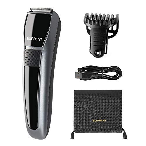 Bartschneider SUPRENT Bart Trimmer Herren, Body Groomer mit Sicherheitsverschluss und 7 eingebaute einstellbare Längen, tragbare Reisetasche und USB-Ladegerät