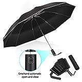 Paraguas Plegable con Tefln Impermeable Abrir y Cerrar Automtico con 10 Varillas