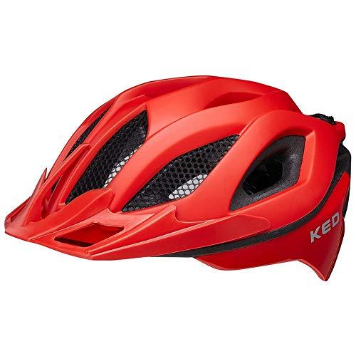 KED Spiri Two Helm Fiery red matt Kopfumfang L | 55-61cm 2021 Fahrradhelm