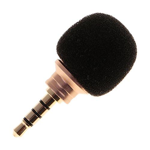 MagiDeal Mini Kondensator Mikrofon Richtmikrofon Geräte mit (3,5mm) Ausgang für Smartphone und Handy - Stereo