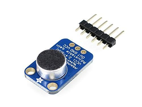Adafruit 1063 Electret - Amplificador de micrófono con Ganancia...