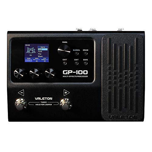 Valeton GP-100 Guitar Bass Amp Modeling IR Cabinets Simulation Multi Language Multi-Effects with Expression Pedal Stereo OTG USB Audio Interface
