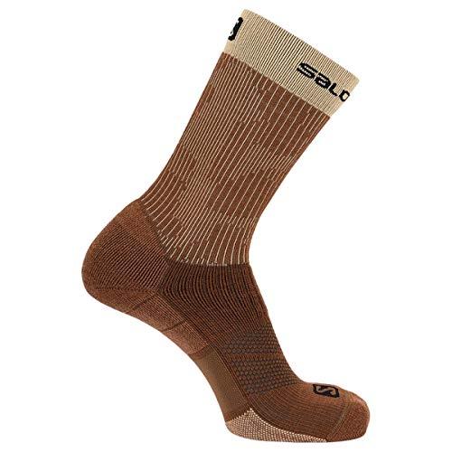 Salomon X Ultra Mid Socks, Mokka Mousse/Almond Cream/Black, L