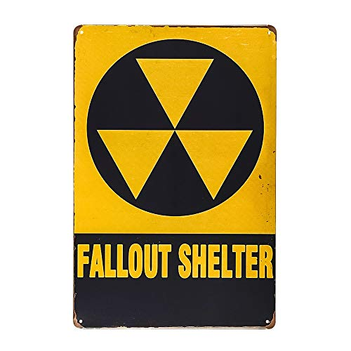 dingleiever-Christmas Gifts Fallout Shelter Vintage Look Reproduction Metal tin Sign