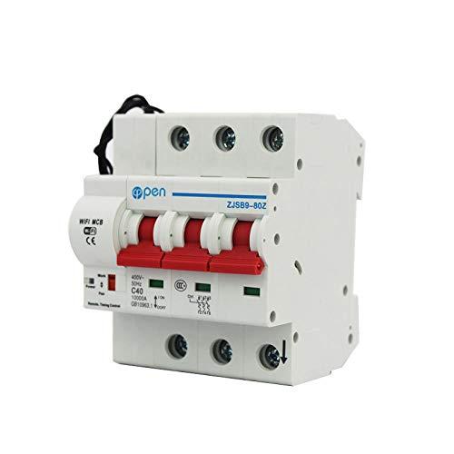3P Wifi Fernbedienung Leistungsschalter/Smart Switch Überlast/Kurzschlussschutz mit Alexa und Google Home-3_63A