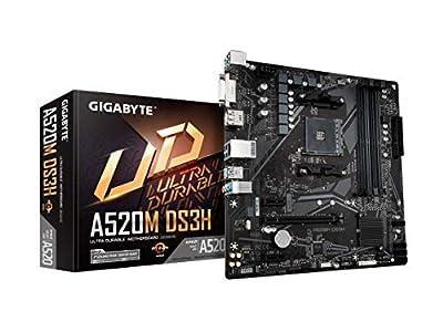 Gigabyte A520M DS3H (AMD Ryzen AM4/MicroATX/5+3 Phases Digital PWM/Gaming GbE LAN/NVMe PCIe 3.0 x4 M.2/3 Display Interfaces/Q-Flash Plus/RGB Fusion 2.0/Motherboard)