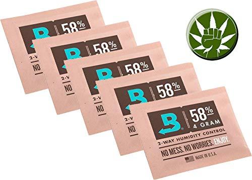 Boveda 58% 5 Beutel mit je 4g - 2-Wege-Feuchtigkeitsregler + Fight-Button