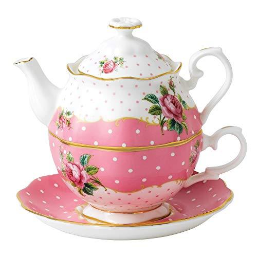 Royal Albert - Juego de té Individual, diseño Vintage, Multicolor