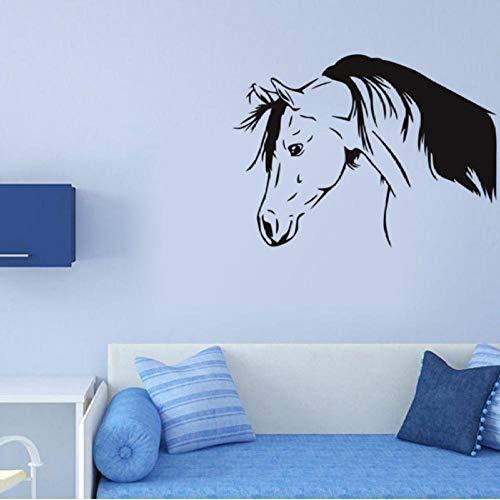 Muursticker, paard hoofd tak 80x58 cm PVC DIY art home decor voor kinderkamer woonkamer muurtattoo verwijderbare douane kantoor verjaardagscadeau