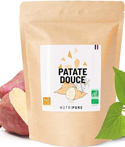 Farine de Patate Douce BIO & Vegan • 100% Naturelle • Alternative sans Gluten & sans OGM • Basifiant • Indice Glycémique Bas • Idéale au petit déjeuner & en Pâtisserie • En Poudre • 750 G • Nutripure