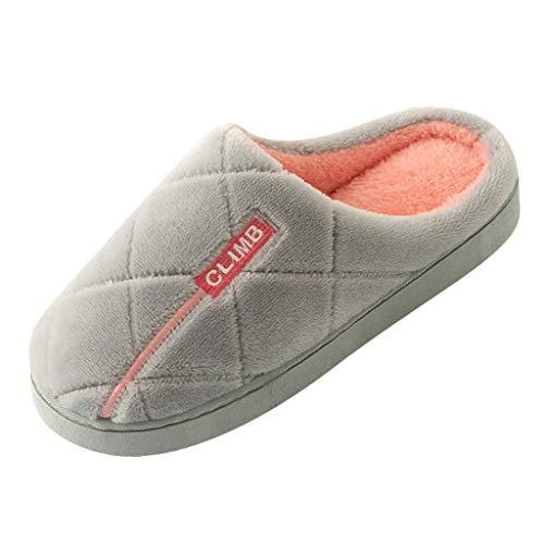 catmoew Winter Baumwolle Pantoffeln Plüsch Wärme Weiche Hausschuhe Kuschelige Home rutschfeste Slippers für Herren Damen Pantoffeln Wärme Halten House Schuhe Drinnen