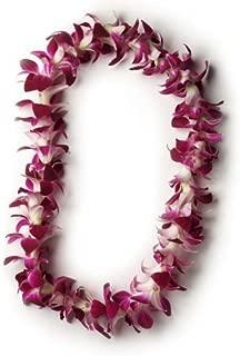 Hawaiian Lei - Fresh Single Strand Orchid Lei - Classic Purple