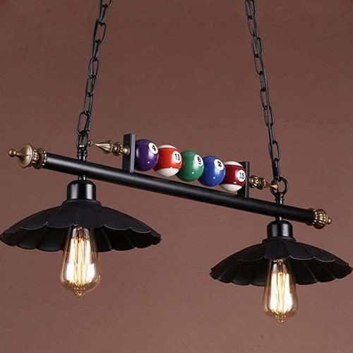WHL Candelabro de Billar Retro lámpara de Mesa de Comedor Creativa de Tres Cabezas E27 × 3 (E27 × 2) Fuente de luz, Adecuada para Restaurante, Bar, Sala de Billar, candelabro de cafetería,Typ B E27×2