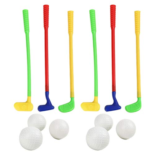 BESPORTBLE 2 Sets of Plastic Golf Club Toys, Children Educational Fun Sports Toys for Golfers Toddlers