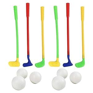 BESPORTBLE 2 Sätze Plastik Golfspielzeug Golfspiel Spielzeug Set Spaß Pädagogisches Sportspielzeug für Golfer