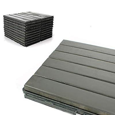 Deck Tiles - Patio Pavers - Acacia Wood Outdoor Flooring - Interlocking Patio Tiles