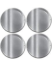 Biomar Labs® 4 x 60mm 3D Domed Center Auto Wiel Centrum Velgen Hub Zilver Stickers Decals Voor Caps Voertuig Auto Tuning Embleem Een 9760