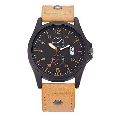 Liandd Mode schöne hochwertige Trendige Uhr wasserdicht Datum Quarz analog Herren Quarz armbanduhren,B