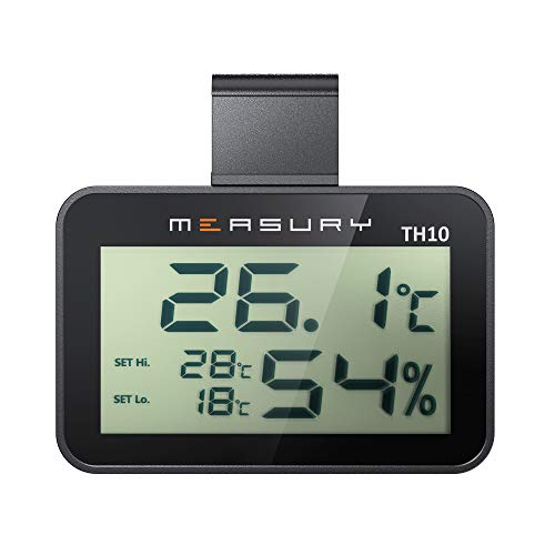 Measury Hygrometer Thermometer für das Terrarium, digitales Thermohygrometer TH10