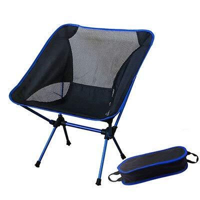 Hjdmcwd Klappbarer Campingstuhl Tragbare Grau Moon Chair Angeln Camping Hocker Folding Erweiterte Wandern Sitz mit Taschenultra Office Home Furniture (Color : SF73300DB)