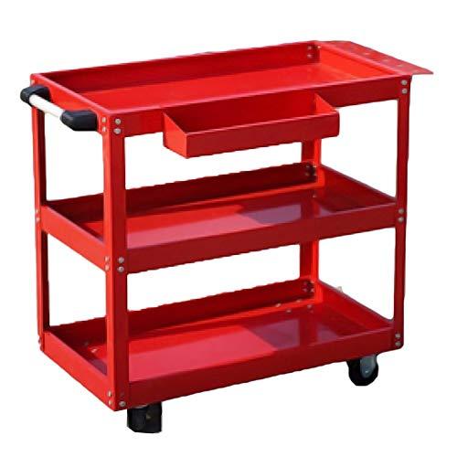 Ramingt-Home Gereedschapswagen, auto-reparatiegereedschap, trolley, mobiel met drie lagen, multifunctionele auto-rek, kast, werkbank, hardware-onderdelen, gereedschapswagen, wheeling trolley