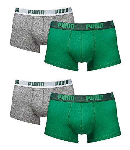PUMA Herren Basic Trunk Boxershort Unterhose 8er Pack amazon green 075 - M