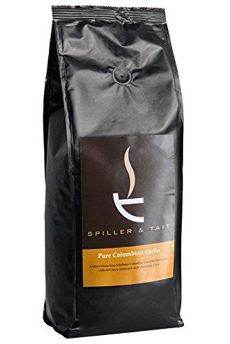 Cristiano Spiller & Tait Pure Colombian Huila–Kaffee Bohnen 1kg Beutel–Top Kaffee schmoren in Großbritannien–Gourmet Bohnen für leckere Kaffee zu Hause–PREMIUM QUALITÄT Arabica Bohnen