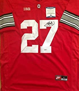 Eddie George Autographed Signed Ohio State Buckeyes Jersey Beckett Coa H64830 Proof