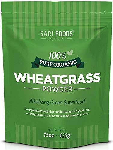 Organic Wheatgrass Powder (15 Ounce): Natural Vegan Whole Food Fiber, Chlorophyll, Antioxidants, Vitamins...