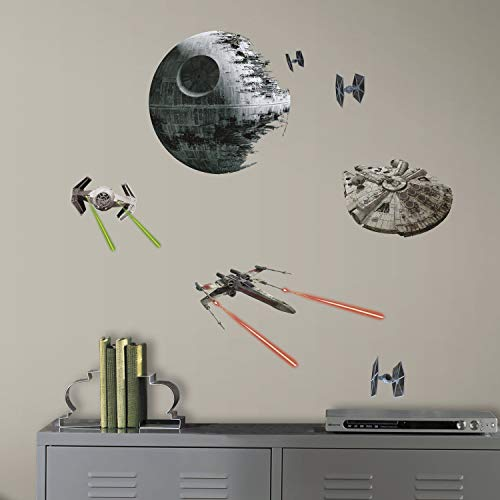 RoomMates Pegatinas de Pared Star Wars Naves Clasicas