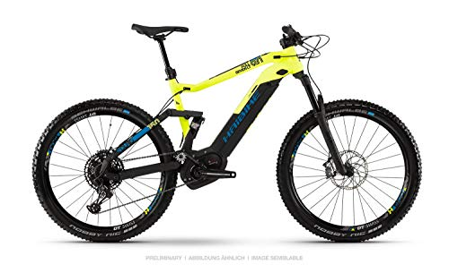 Haibike Sduro FullSeven LT 9.0 Pedelec E-Bike - Bicicleta de montaña (27,5 pulgadas, talla L), color negro, amarillo y azul