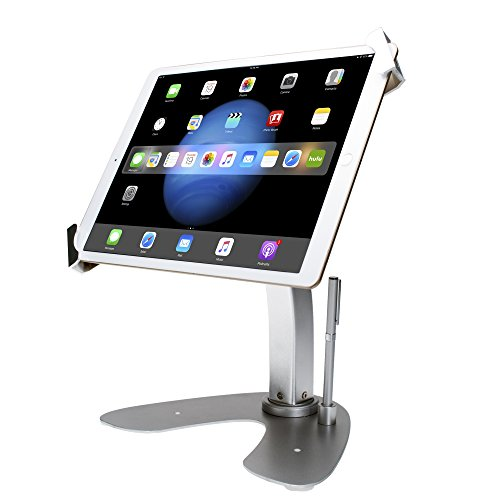 CTA Digital: Universal Dual Security Kiosk with Locking Holder, Anti-Theft Cable for iPad 10.2-Inch...