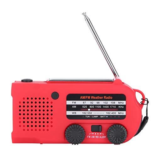 PUSOKEI Radio de manivela Solar multifunción, Radio de Emergencia Am/FM/NOAA con Banco de energía de Linterna de Emergencia, Alarma SOS para Acampar, Senderismo, Aventura