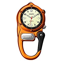Dakota Watch Company Mini Clip Microlight Watch - best clip-on watch for nurses - very charming and well built clip on watch that comes in a variety of marvelous finishes.