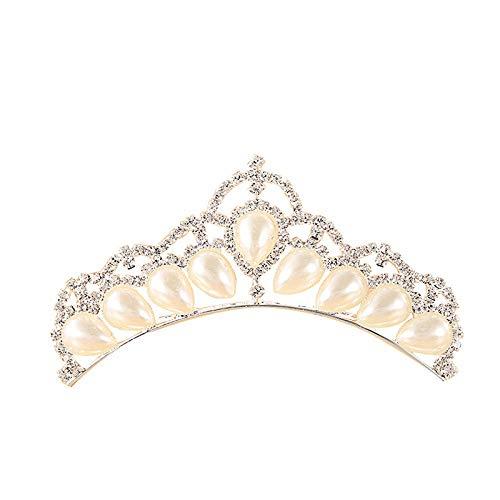 Haarschmuck Für Hochzeit Perlen Krone Haarband Braut Diadem Braut Tiara Kurze Lange Haare Pfirsich Herz Strass Hochzeit Krone Haarschmuck