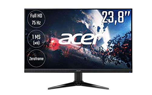 Acer Nitro QG241Y 23.8 inch LED 1ms Gaming Monitor - Full HD 1080p, 1ms Response, HDMI (Renewed)